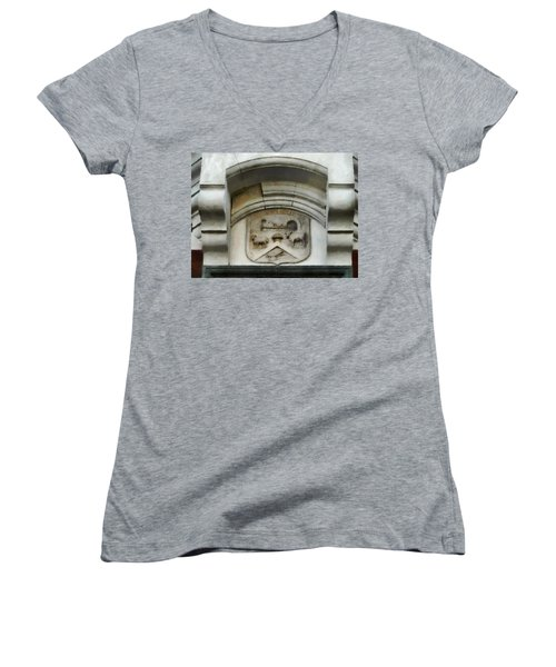 The Crest Of The Christchurch City Council Women's V-Neck T-Shirt