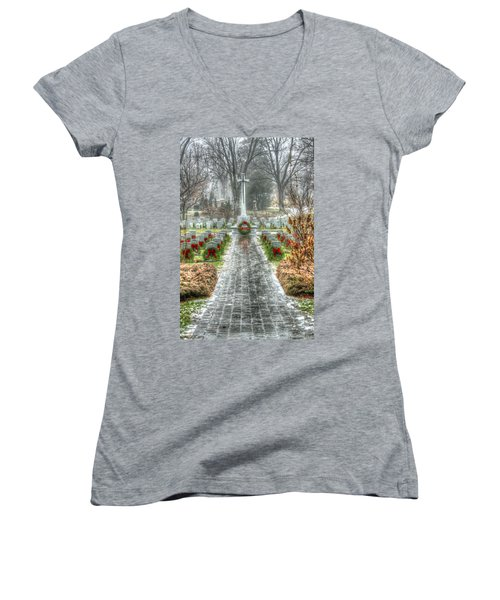 The Cross Of Sacrifice Women's V-Neck (Athletic Fit)