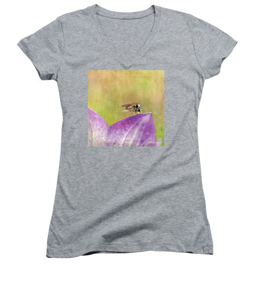 The Dance Of The Hoverfly Women's V-Neck (Athletic Fit)