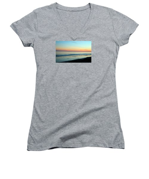 The Day Ends Women's V-Neck T-Shirt