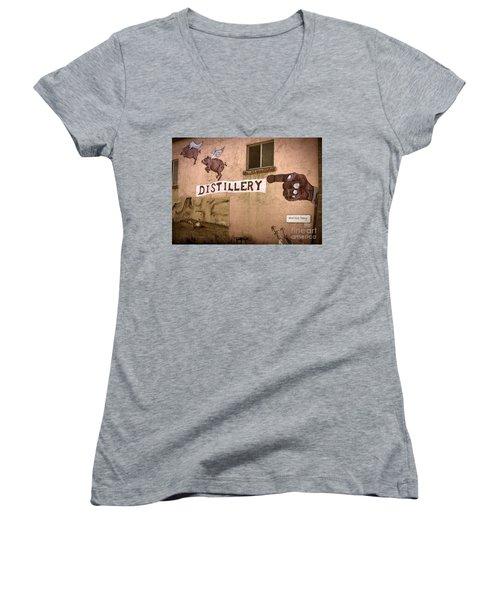 The Distillery Women's V-Neck T-Shirt (Junior Cut) by Janice Rae Pariza