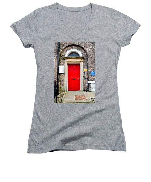 The Door To James Herriot's World Women's V-Neck (Athletic Fit)