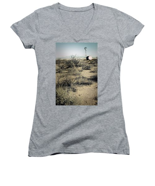 The Dry Lands Of Arizona Women's V-Neck