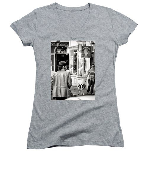 The Dude Women's V-Neck T-Shirt (Junior Cut) by William Beuther