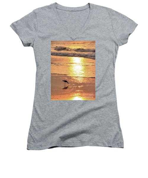 The Early Bird Women's V-Neck