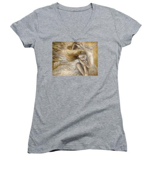 The Ecstasy Of Angels Women's V-Neck T-Shirt