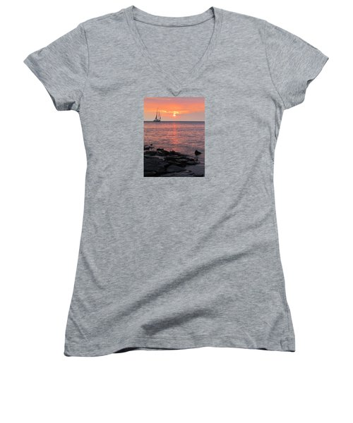 The Edith Becker Sunset Cruise Women's V-Neck T-Shirt