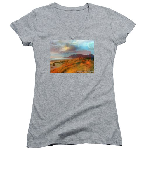 The Elk Trail Women's V-Neck T-Shirt