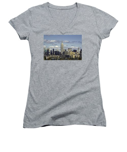 The Empire State Building 2 Women's V-Neck T-Shirt