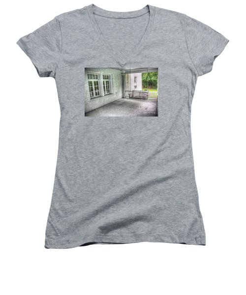 The Empty Porch Swing Women's V-Neck (Athletic Fit)