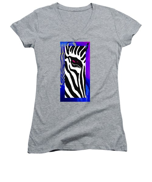 Women's V-Neck T-Shirt (Junior Cut) featuring the photograph The Eye Beholds by I'ina Van Lawick
