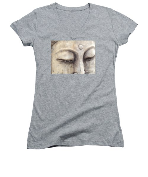 The Eyes Of Buddah Women's V-Neck T-Shirt