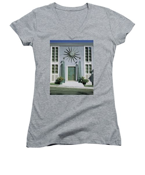 The Facade Of Tony Duquette's House Women's V-Neck