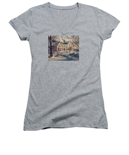 The Farm Women's V-Neck T-Shirt (Junior Cut) by Joy Nichols