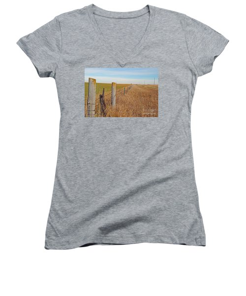 The Fence Row Women's V-Neck (Athletic Fit)
