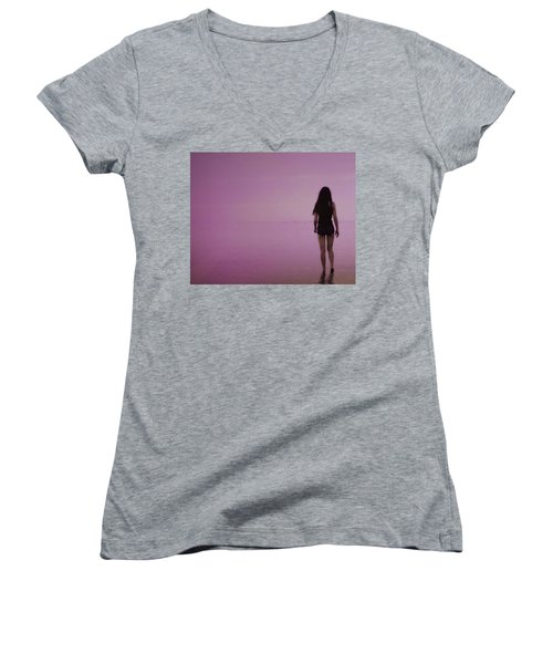 Entering A New Dimension  Women's V-Neck (Athletic Fit)