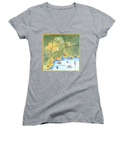The Forgotten Coast St. Marks Women's V-Neck (Athletic Fit)