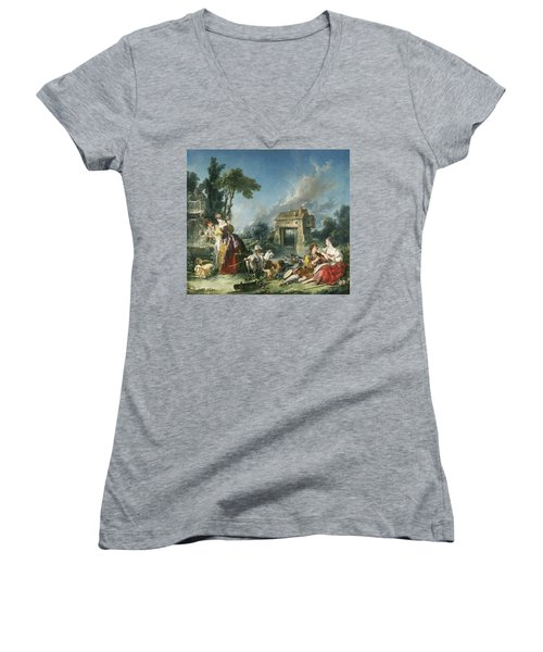 The Fountain Of Love Women's V-Neck (Athletic Fit)