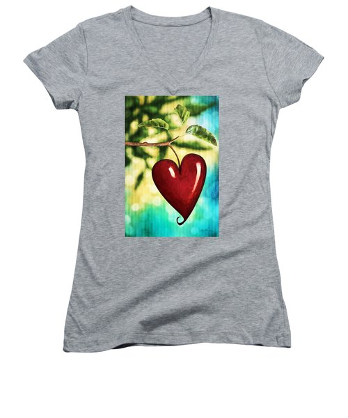 The Fruit Of The Spirit Women's V-Neck (Athletic Fit)