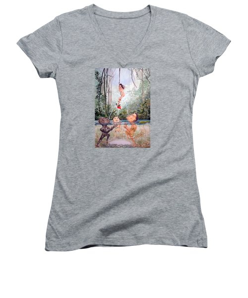 The Game Of The River Women's V-Neck T-Shirt