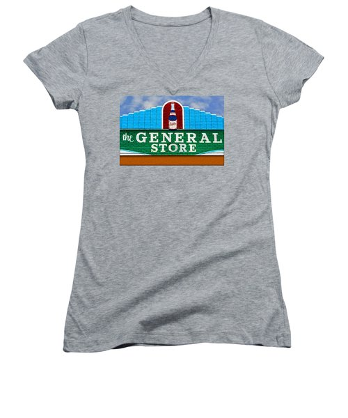 The General Store Women's V-Neck T-Shirt (Junior Cut) by Paul Wear