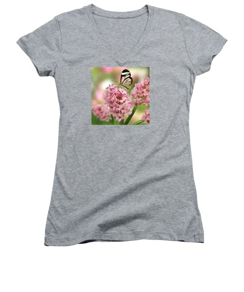 The Glasswing Women's V-Neck T-Shirt