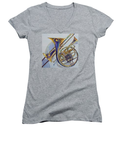 The Glow Of Brass Women's V-Neck (Athletic Fit)