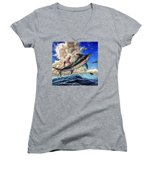 The Grand Challenge  Marlin Women's V-Neck