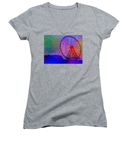 The Great  Wheel Cubed Women's V-Neck T-Shirt