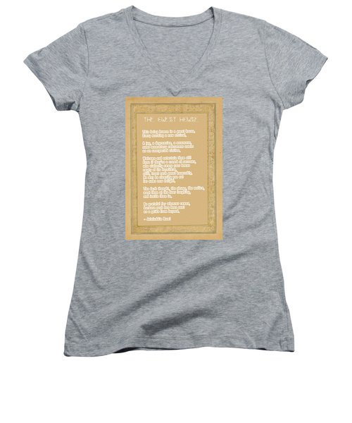 The Guest House Poem By Rumi Women's V-Neck