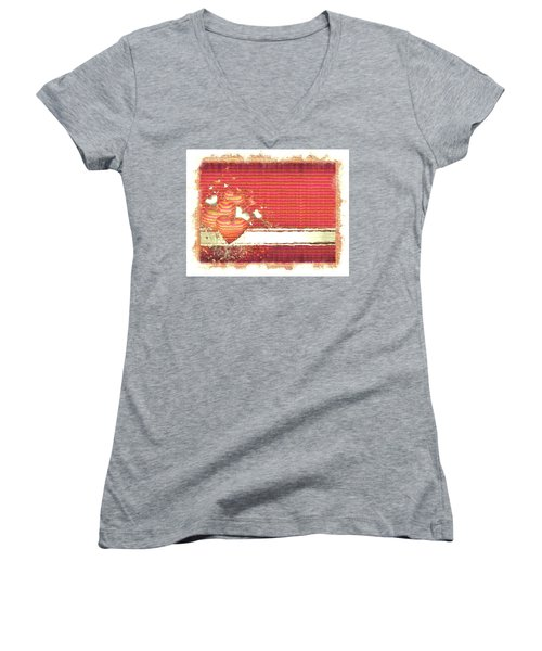 The Heart Knows Women's V-Neck T-Shirt (Junior Cut) by Liane Wright