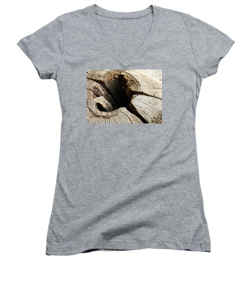 The Hole Women's V-Neck T-Shirt (Junior Cut) by Clare Bevan