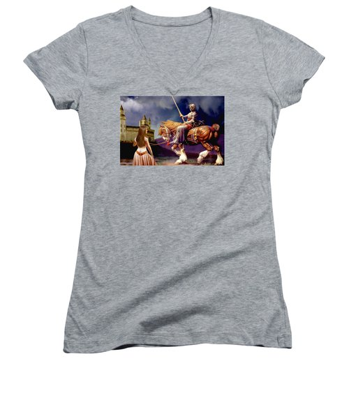 The Homecoming Women's V-Neck T-Shirt (Junior Cut) by Ron Chambers