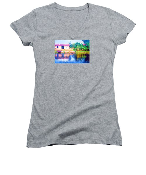 The House Across The Way Women's V-Neck (Athletic Fit)