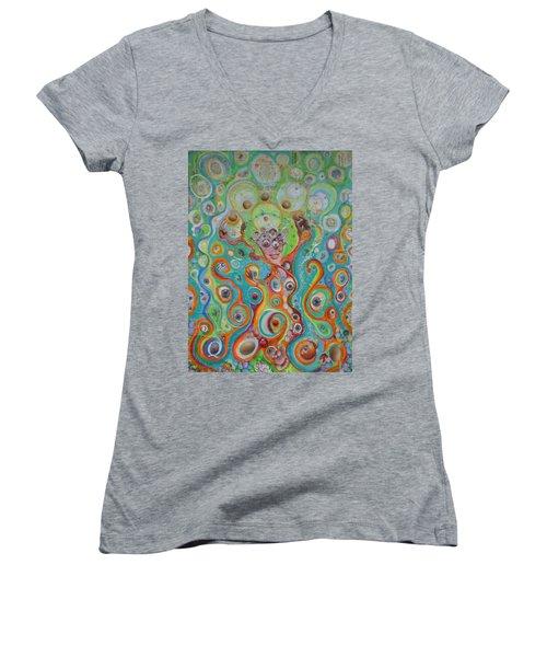 The Juggler Of Junkadelphia Women's V-Neck T-Shirt