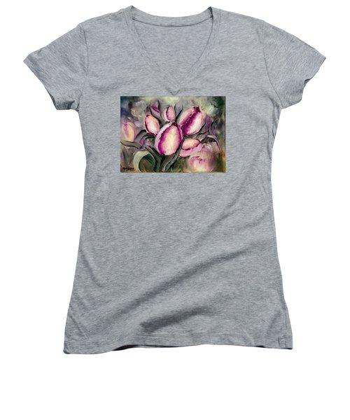 The Kings Tulips Women's V-Neck T-Shirt