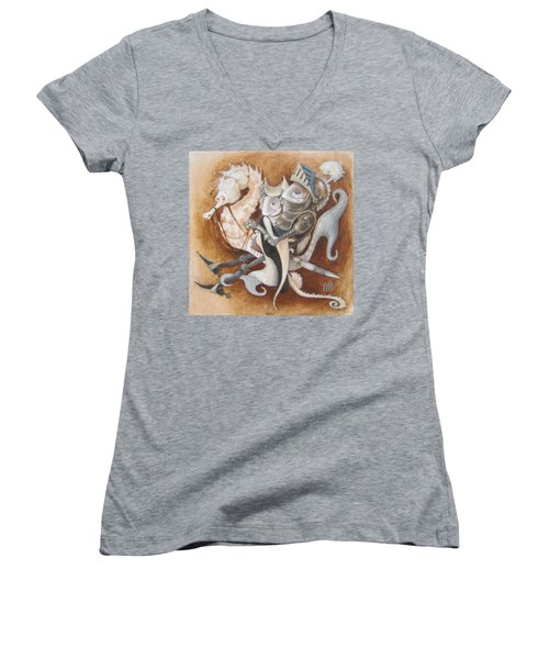 The Knight Tale Women's V-Neck T-Shirt