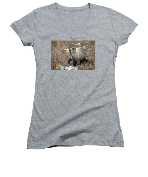 Women's V-Neck T-Shirt (Junior Cut) featuring the photograph The Last Berry by Jack Bell