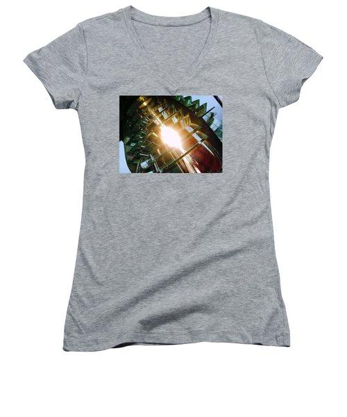 The Light Women's V-Neck T-Shirt (Junior Cut) by Daniel Thompson