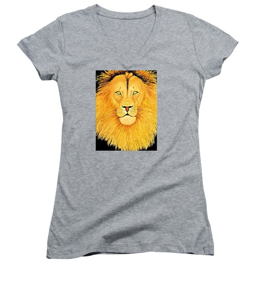 The Lion Women's V-Neck T-Shirt (Junior Cut)