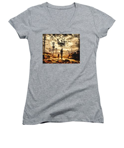 The Lone Wanderer Women's V-Neck (Athletic Fit)