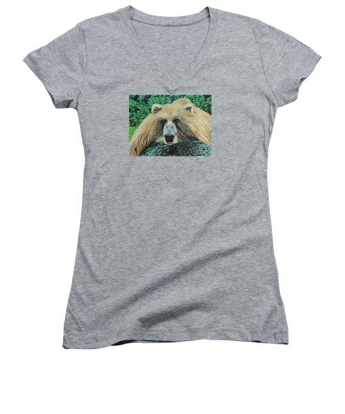 The Look Women's V-Neck T-Shirt (Junior Cut) by Jeanne Fischer