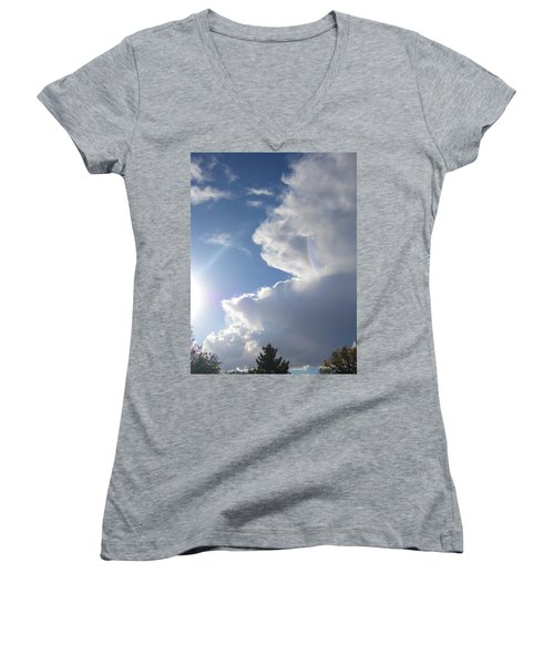 Women's V-Neck T-Shirt (Junior Cut) featuring the photograph Rainbow Tears by Deborah Moen