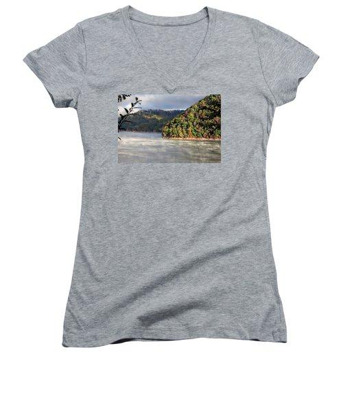 The Mists Of Watauga Women's V-Neck T-Shirt