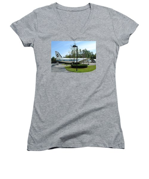Women's V-Neck T-Shirt (Junior Cut) featuring the photograph The Mouse by David Nicholls