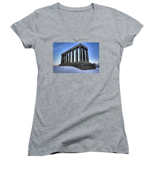 The National Monument Women's V-Neck (Athletic Fit)