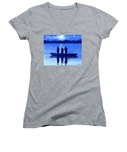 The Night Fishermen Women's V-Neck
