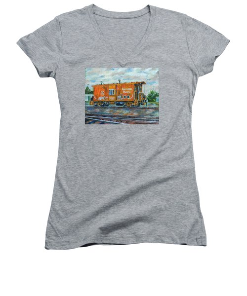 The Old Caboose Women's V-Neck (Athletic Fit)