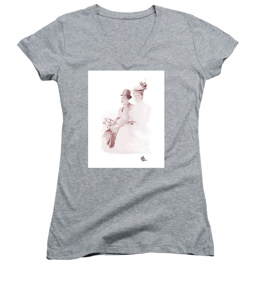 The Old Gray Mare Women's V-Neck T-Shirt