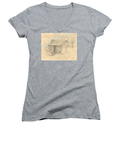 The Old Homeplace Women's V-Neck (Athletic Fit)
